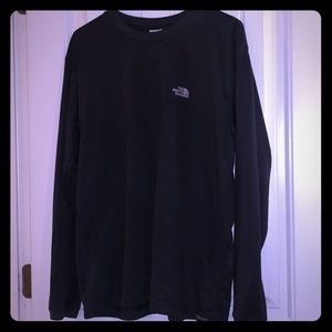 Grey long sleeve men's north face shirt